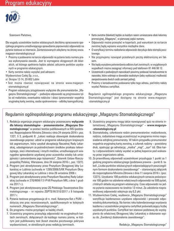 Regulamin programu edukacyjnego MS