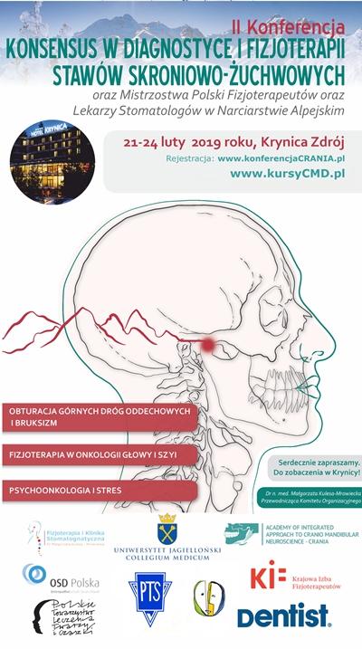 KONFERENCJA CRANIA. Konsensus w diagnostyce i fizjoterapii stawów skroniowo-żuchwowych